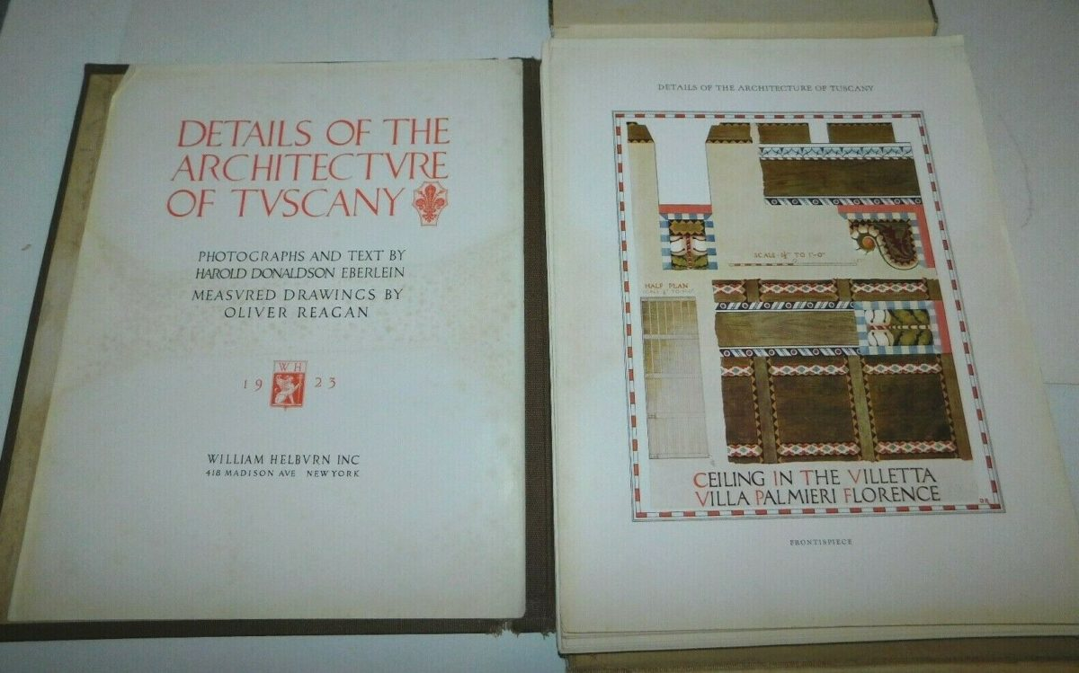 1923 Details of the Architecture of Tuscany Architectural Print Folio Book