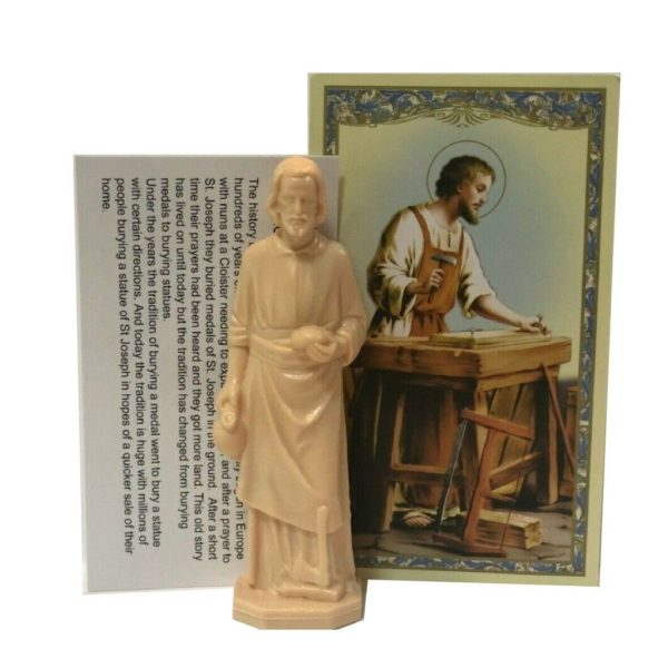 St Joseph Statue Home Selling Kit Saint House Seller Figure & Instruction