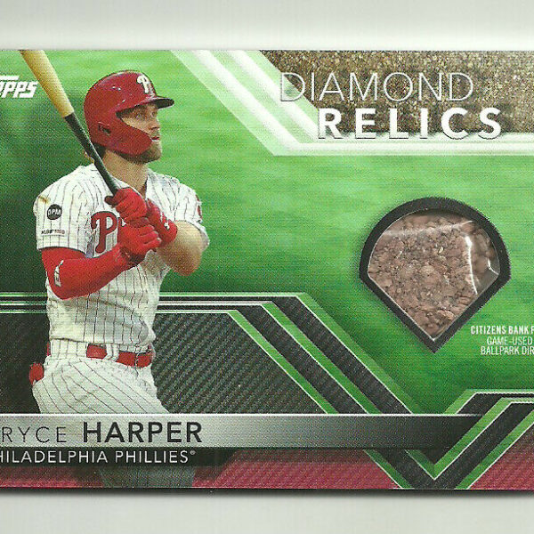 2020 TOPPS OPENING DAY BASEBALL Bryce Harper Diamond Relic Relics BALLPARK DIRT