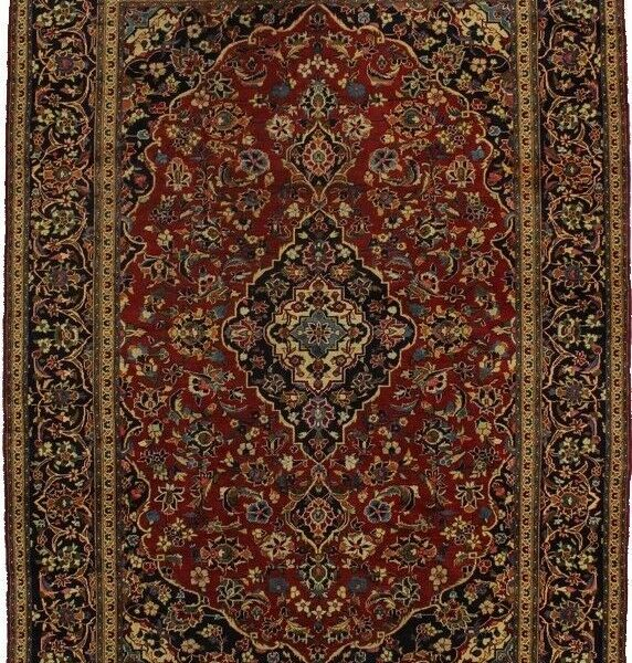 Traditional Semi Antique Handmade 8X12 Living Room Red Oriental Area Rug Carpet
