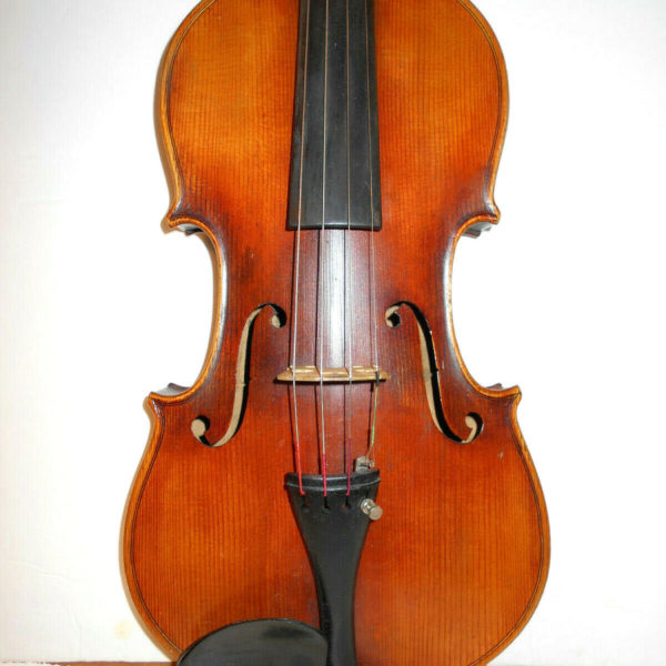 "Antique Old Vintage German ""Stradiuarius"" 2 Pc. Back Full Size Violin - NR"