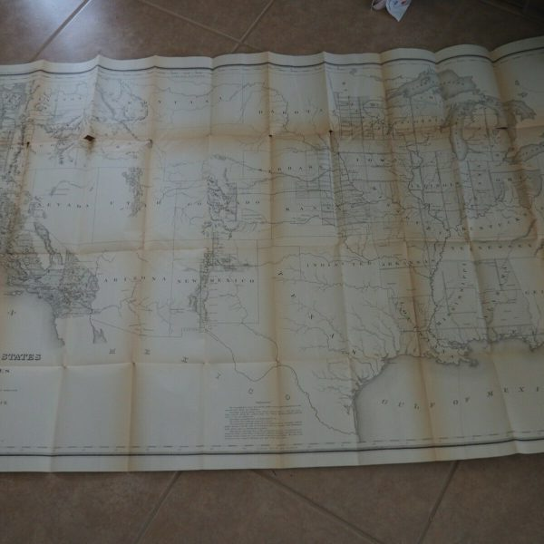 "Antique Map ""Map of the Public Land States and Territories constructed from"""
