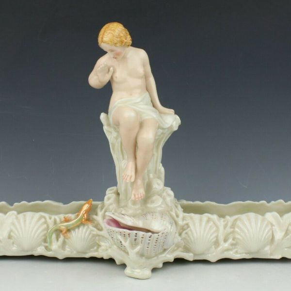 """19C Royal Worcester figurine """"Nude with Lizzard"""" WorldWide"""