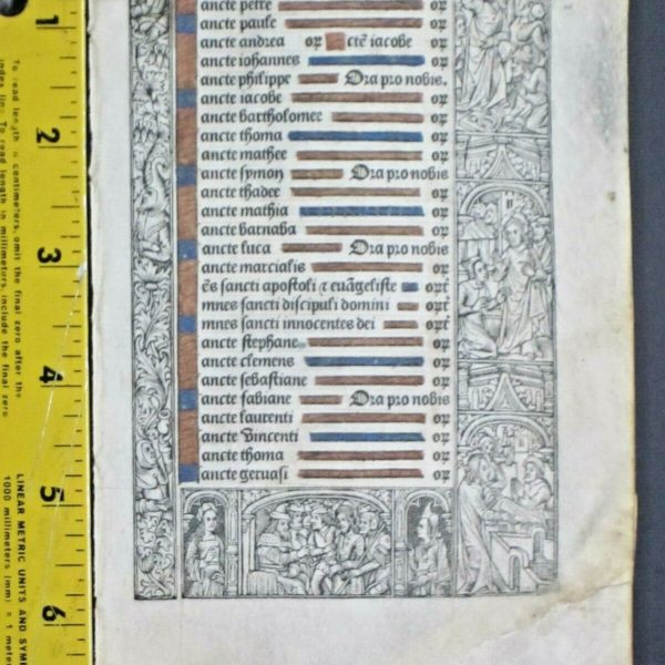 Medieval BoH lf,Vellum,Litany with scenes of Christ's life as borders,c.1500