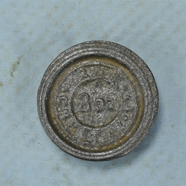 Antique R&B CAST IRON SCALE WEIGHT CHESTER MERCANTILE TRADES FACTORIES 8 OZ 6477