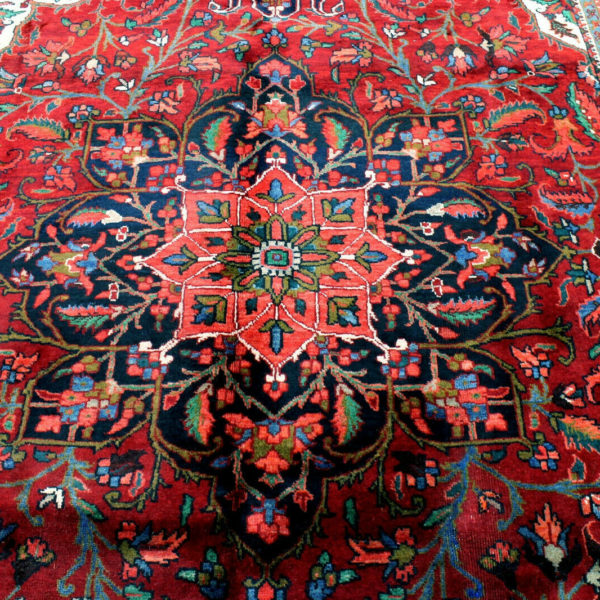 7X11 1940s SPECTACULAR ANTIQUE HAND KNOTTED 70+YRS HEREEZZGEOMETRIC ORIENTAL RUG