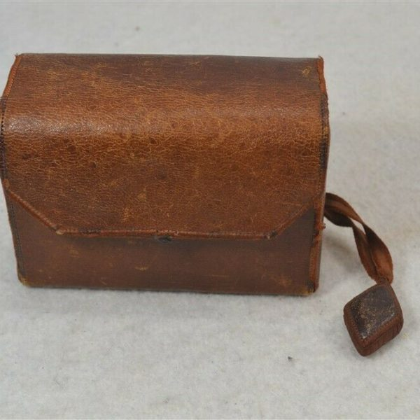 antique sewing box leather handmade emery thimble Shaker Community 19th 1800