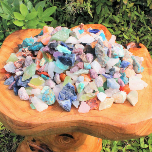 Rough Crystal Chip Mixed Assorted Lots: Natural Raw Crafters Gemstone Bulk Lots