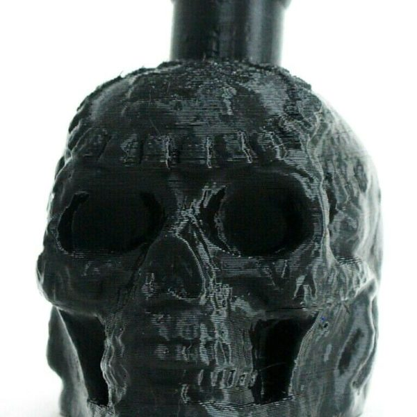Aztec / Mayan Death Whistle Onyx Black Skull  *** MADE IN USA ***