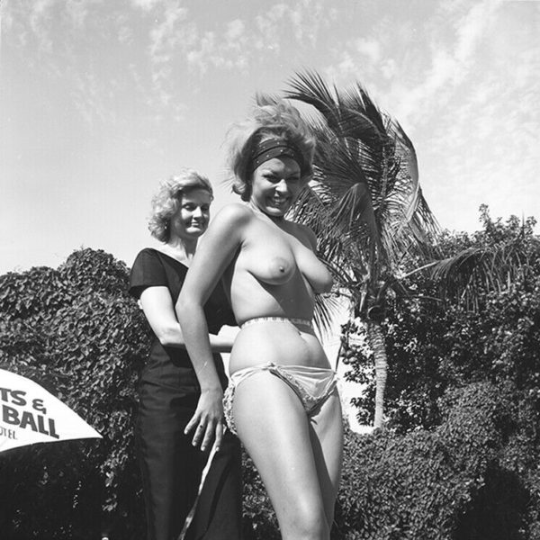1960s Bunny Yeager Archive Camera Negative Photograph TOPLESS BEAUTY COMP Pin Up