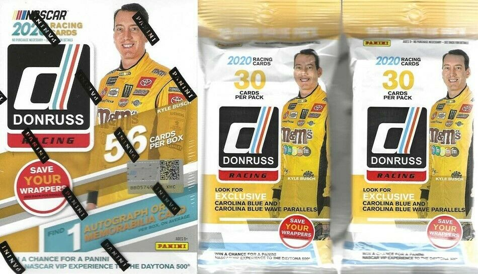 2020 Donruss Racing NASCAR Trading Cards 1-Blaster Boxes + 2 Fat Packs Combo Set