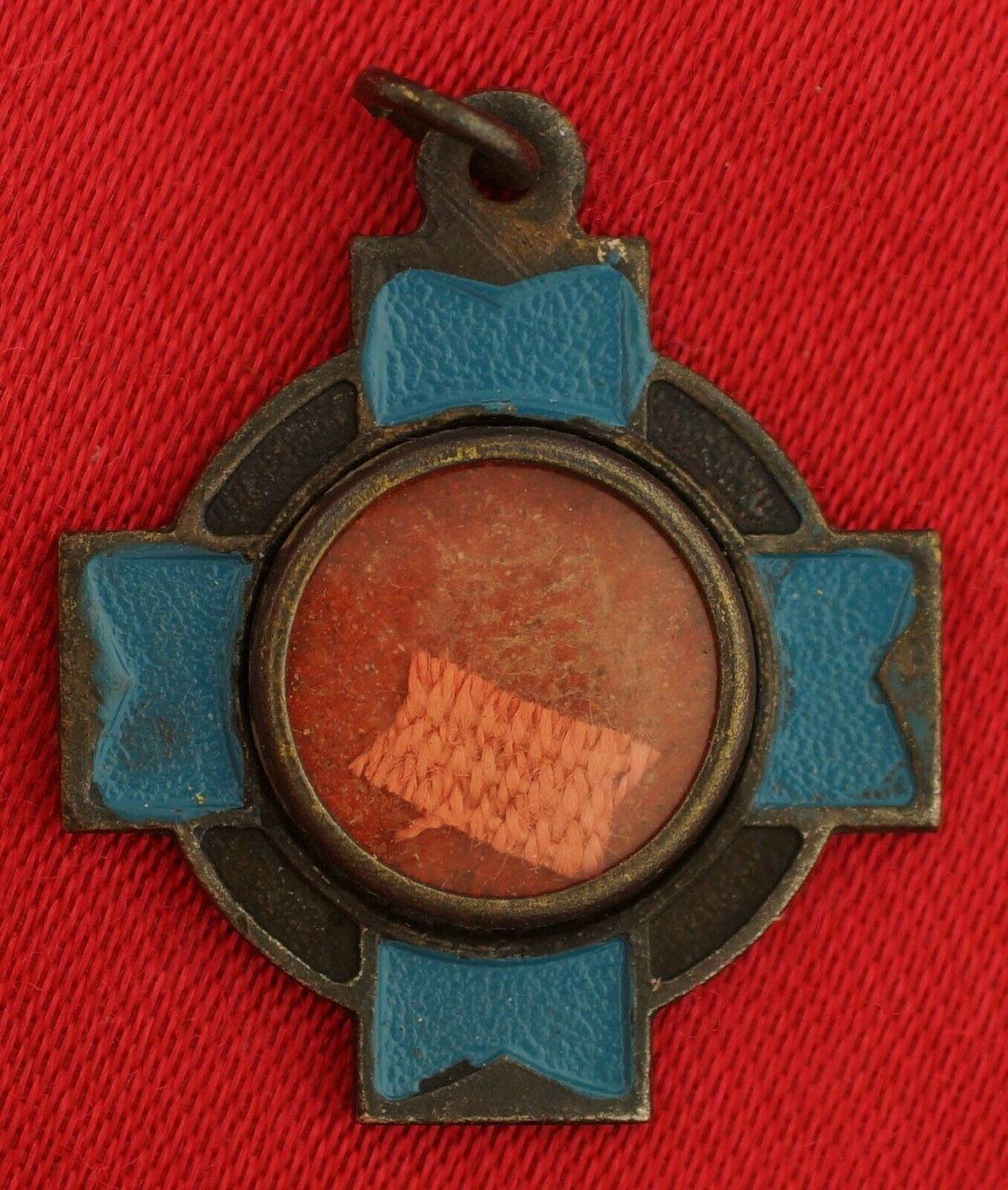 Vintage SAINT ANTHONY RELIC Medal TOUCHED TO HIS TONGUE Religious PADUA Pendant