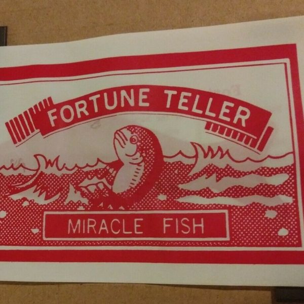 Fortune Teller Miracle Fish - Tell Your Fortune - Fortune Telling Fish - RETRO -
