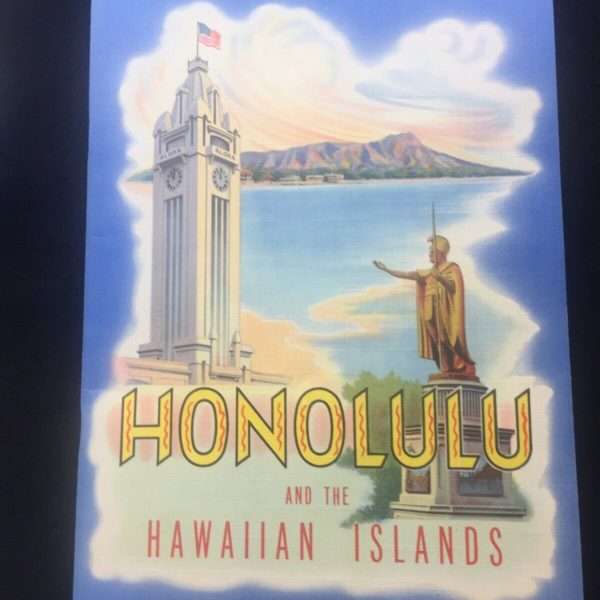 "VINTAGE  ""HONOLULU & The HAWAIIAN ISLANDS"" HAWAII SOUVENIR BOOKLET 1943"