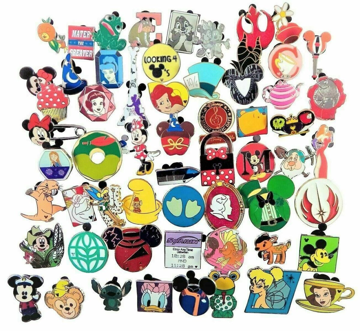 Disney Pin Trading 25 Assorted Pin Lot - Brand NEW Pins - No Doubles - Tradable