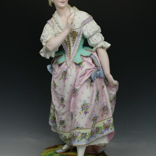 Antique 19C Vion & Baury figurine Lady WorldWide