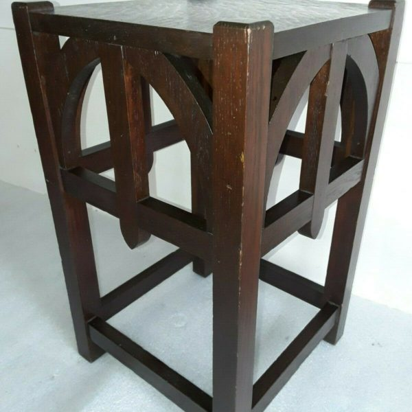 Antique Mission Oak Lamp Table Plant Stand Arts & Crafts Stickley Era nightstand