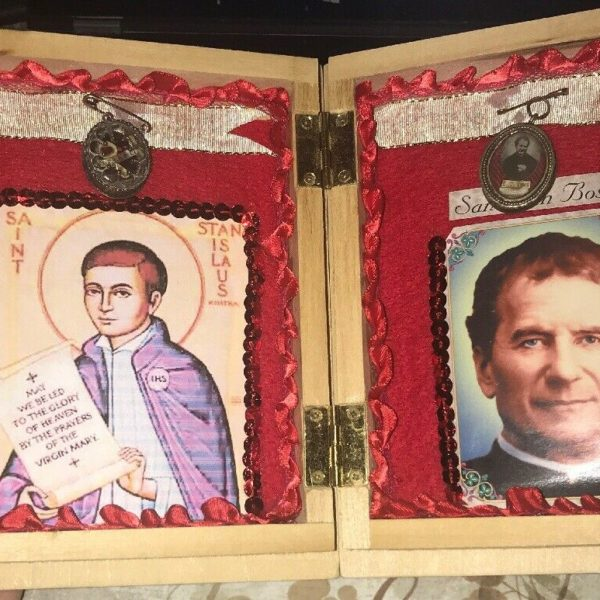 Authentic Relics of Saint John Bosco & Saint Stanislaus in Decorated Casing, God