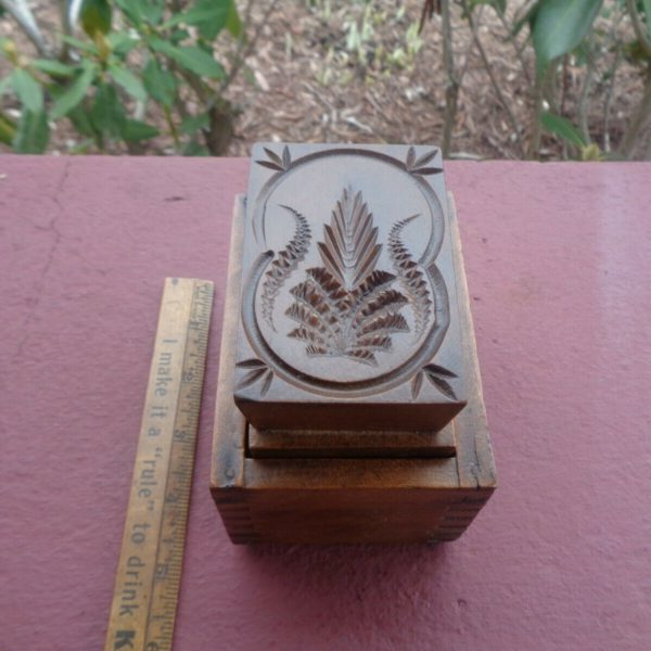 Antique Primitive Wooden Butter Mold Stamp Print DIFFERENT Design