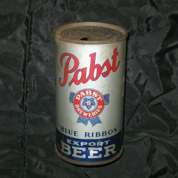 Vintage Pabst Blue Ribbon Export Flat Top Beer Can TapaCan 12 oz Metal