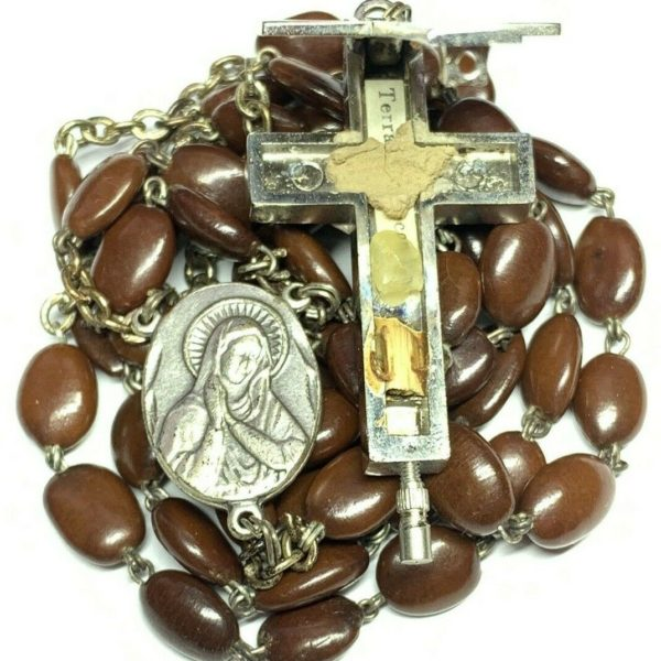 † VINTAGE CATACOMBE RELIC SPINA CHRISTI SEED BEAD PLANT OF CROWN THORNS ROSARY