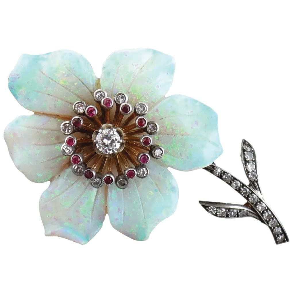 Flower Jewelry Trending at Ruby Lane