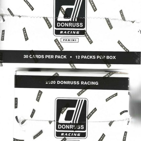 2020 Donruss Racing NASCAR Trading Cards 12 Pack Fat Pack Box = 360 Cards Total