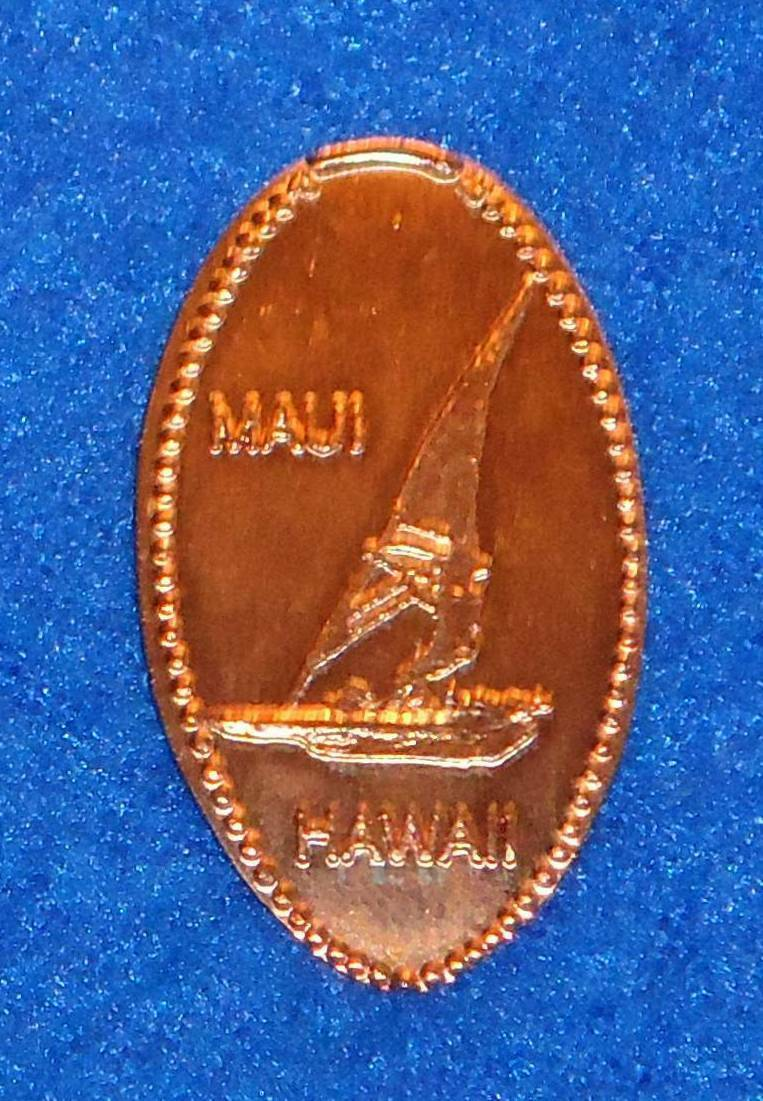 **BRAND NEW** STAGGERING AND GLITZY HAWAII MAUI WINDSURFING PENNY COLLECTIBLE