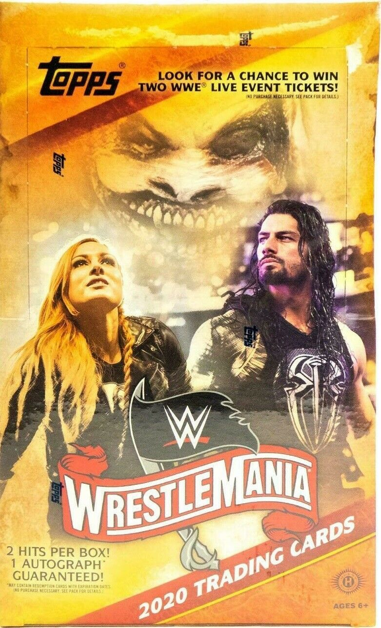 2020 TOPPS WWE ROAD TO WRESTLEMAINIA WRESTLING HOBBY BOX FACTORY SEALED NEW