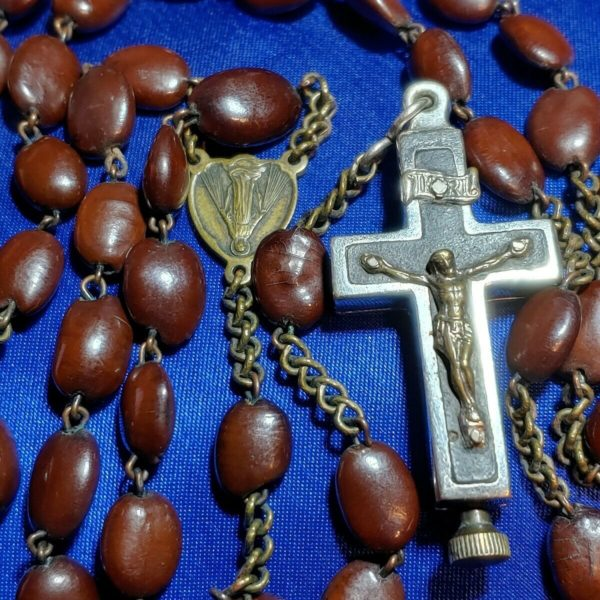 Antique Spina Christi Relic Rosary Upside Down Center Br. Konrad Bl. Franziskus
