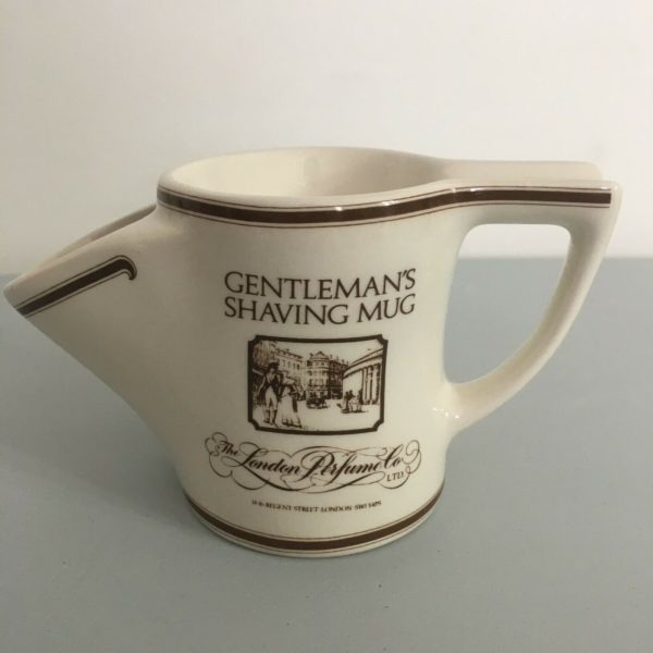 Gentleman's shaving Mug White London Perfume Co. Litd. Staffordshire England