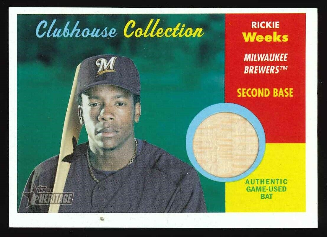 2006 Topps Heritage Clubhouse #RW Richie Weeks (Bat) Relics: Brewers