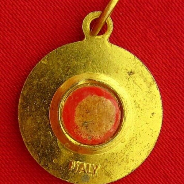 SAINT ANNE BEAUPRE Relic Medal  Pendant MOTHER OF MARY Religious Relic ITALY