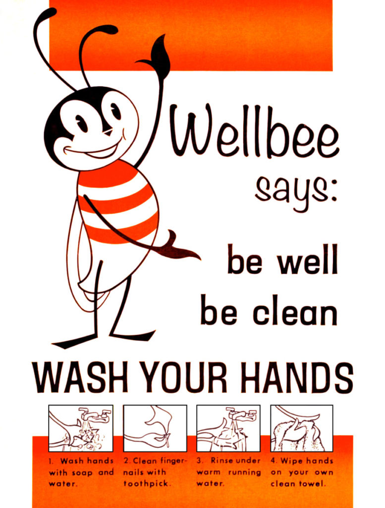 Vintage Posters Promote Importance of Handwashing