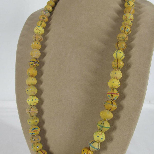"""Lot 56 Antique Venetian Glass Beads From West Africa """"King Beads"""" Necklace yqz"""