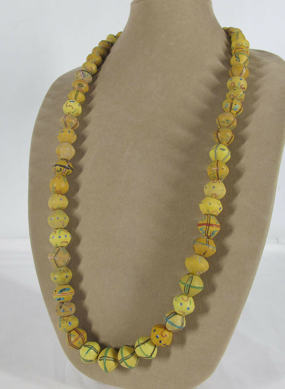 Lot 56 Antique Venetian Glass Beads From West Africa King Beads Necklace Yqz Relic Road Antiques Relics And Rare Collectables