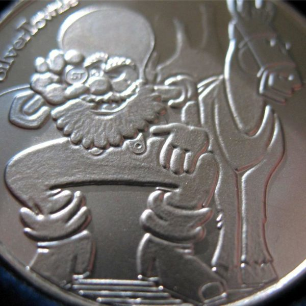 1-OZ.999 SILVER COIN SILVERTOWN CUTE PROSPECTOR AND MULE BULLION