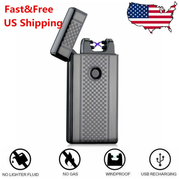 USB Rechargeable Cigarette Lighter - Electric Lighter / Windproof / Flameless