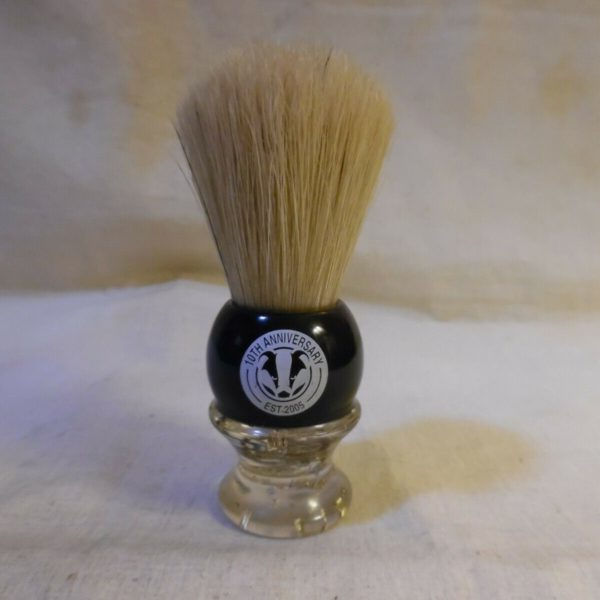 Shaving Brush Lucite With Gold Flakes 10th Anniversary