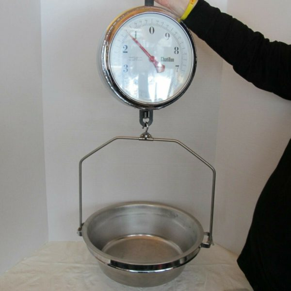 Vintage Mercantile Chatillon Round Double Face 30 lb Hanging Scale Meat Candy