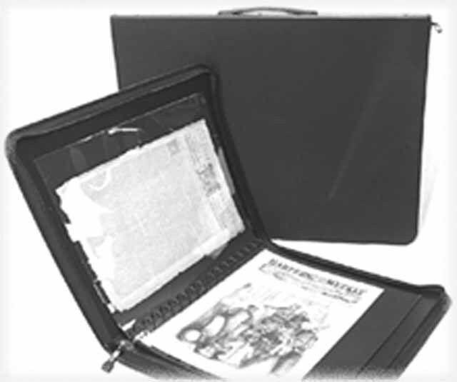 """Large Storage PRESENTATION CASE - 24""""x18"""" Archival Quality  Great for Newspapers"""