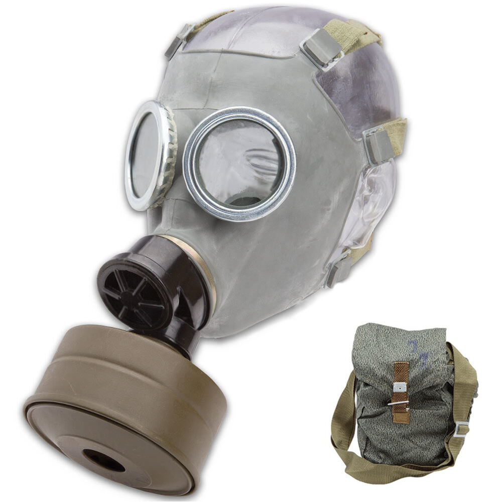 Army Military Full Gas Mask With Filter NBC Chemical Nuclear Biological Warfare