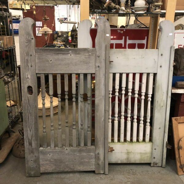 Pair of Antique Cedar Garden Gates with Iron Hardware from Meadow Knoll MN