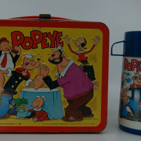 Popeye G- 1980 metal lunchbox with thermos