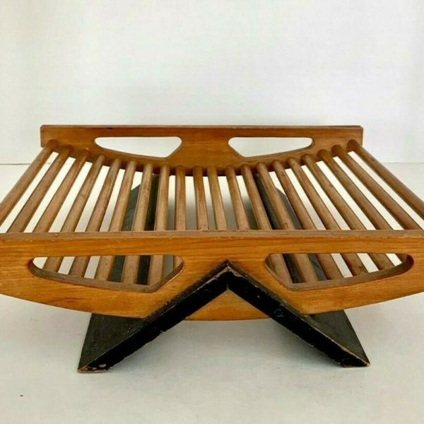 Mid-Century Modern Wooden Catch All or Fruit Basket~MCM