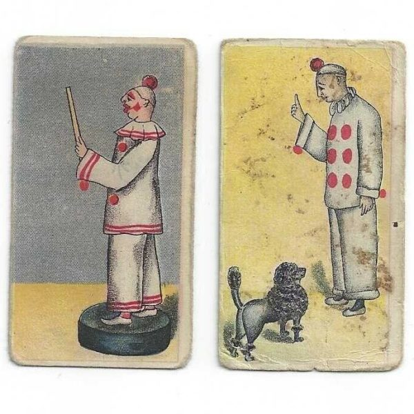 Clown Pictures Circus Caramels American Caramel Co. Lot of 2 Trading Cards E43