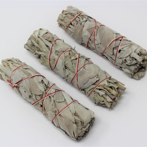 "White Sage Smudge Stick 4"" - 5"" 3 Pack (Herb House Cleansing Negativity Removal)"