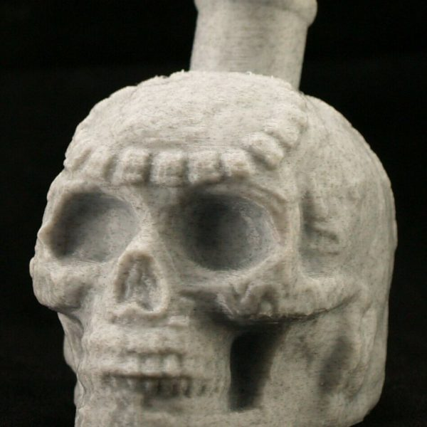 Mayan / Aztec Death Whistle White Marble Skull *** MADE IN USA ***