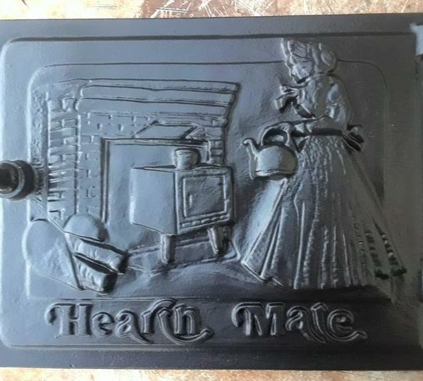 Vintage Hearth Mate Hevy Cast Iron Stove Hearth Door Granny Tending