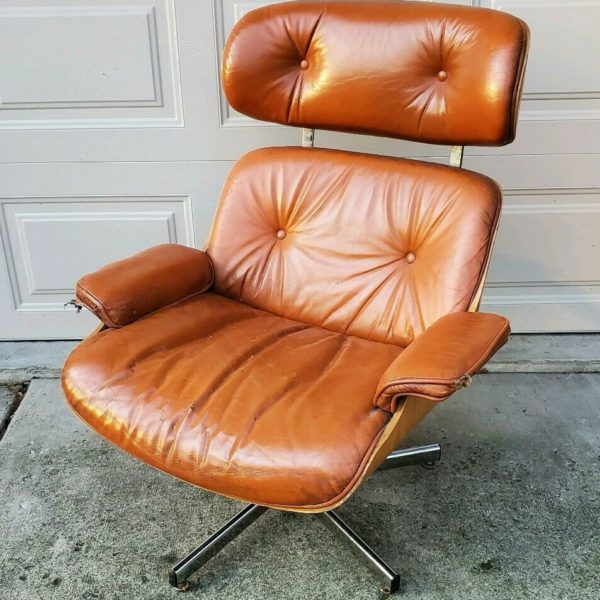 Vintage Herman Miller Eames Style Lounge Chair By Cafemo Retro MCM Furniture